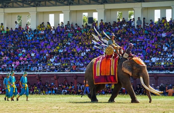Фестиваль слонов в Таиланде