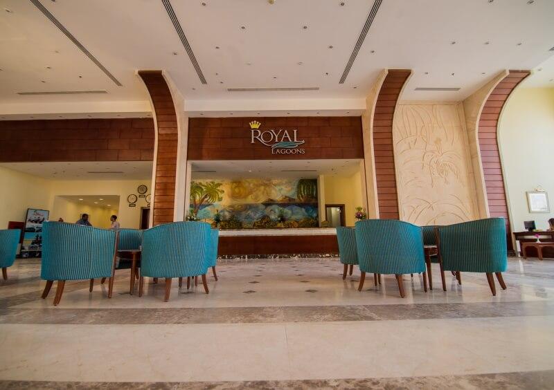 Лобби отеля Royal Lagoons Aqua Park Resort and Spa