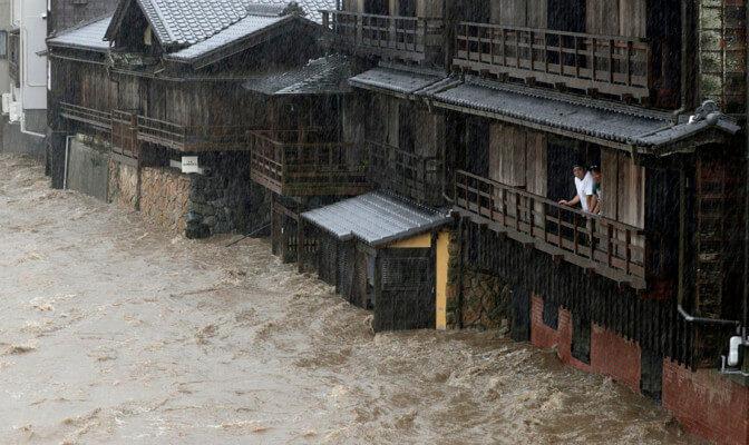 Тайфун Хагибис принес серьезные разрушения в Японии