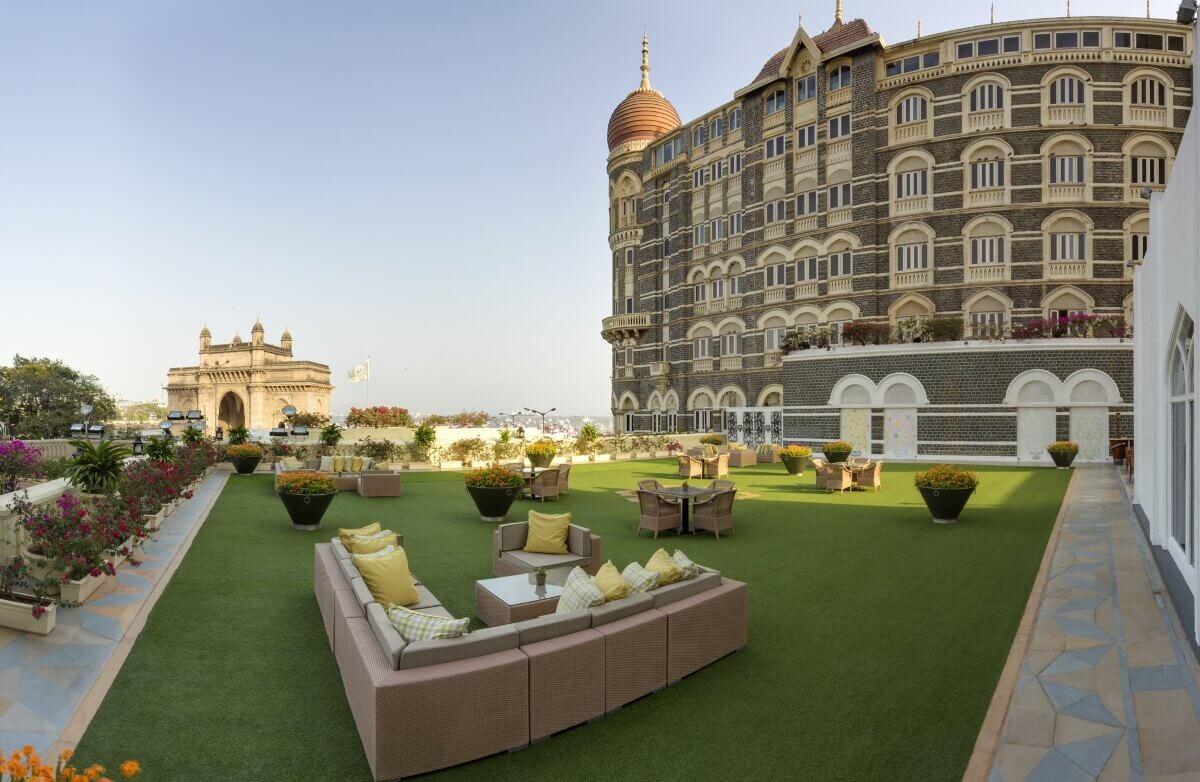 Вид на Арку из отеля The Taj Mahal Tower Mumbai