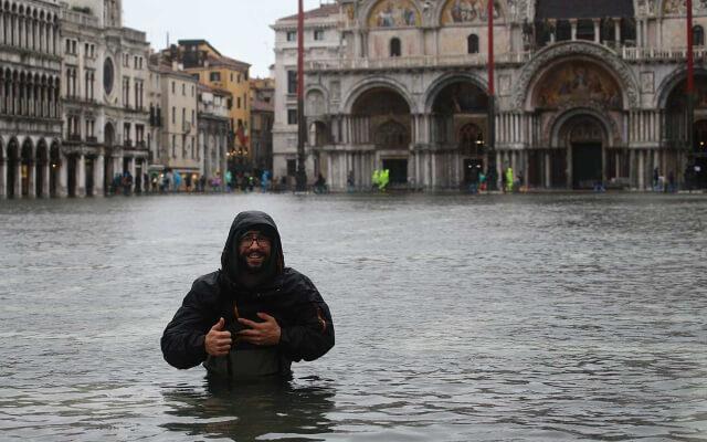 Венеция затоплена после проливных дождей