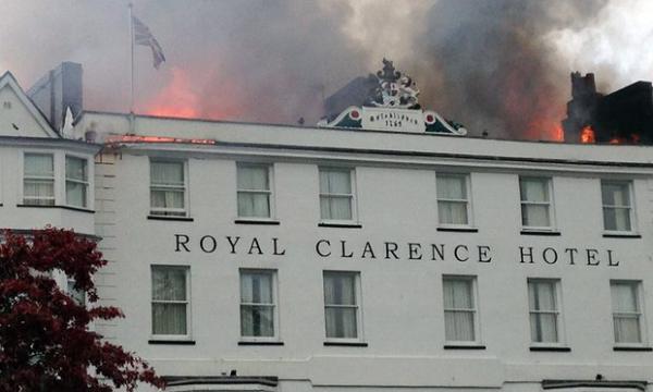 Пожар в отеле Англии