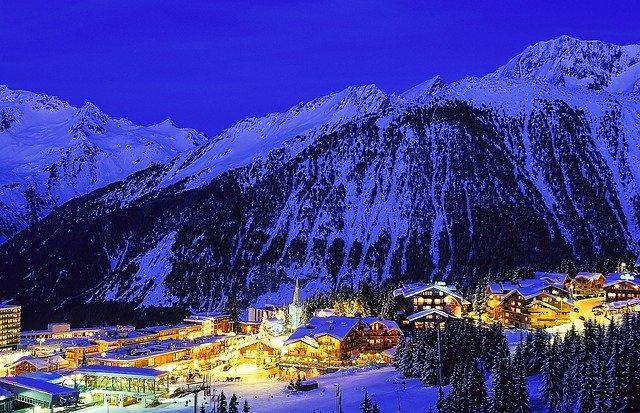 Снег в Альпах
