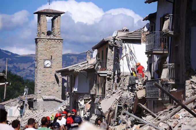 Землетрясение в Италии 2016 фото