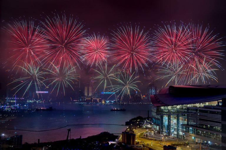 Салют в Гонконге