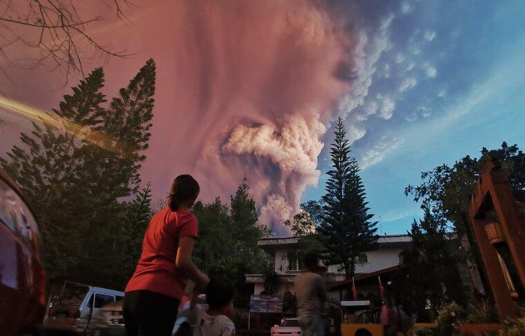 Извержение на Филиппинах