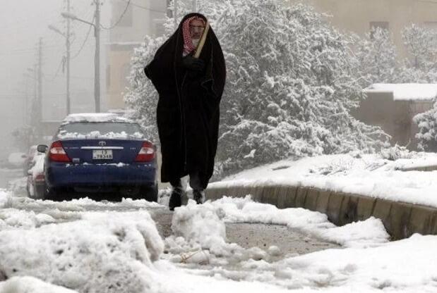 В Египте выпал снег
