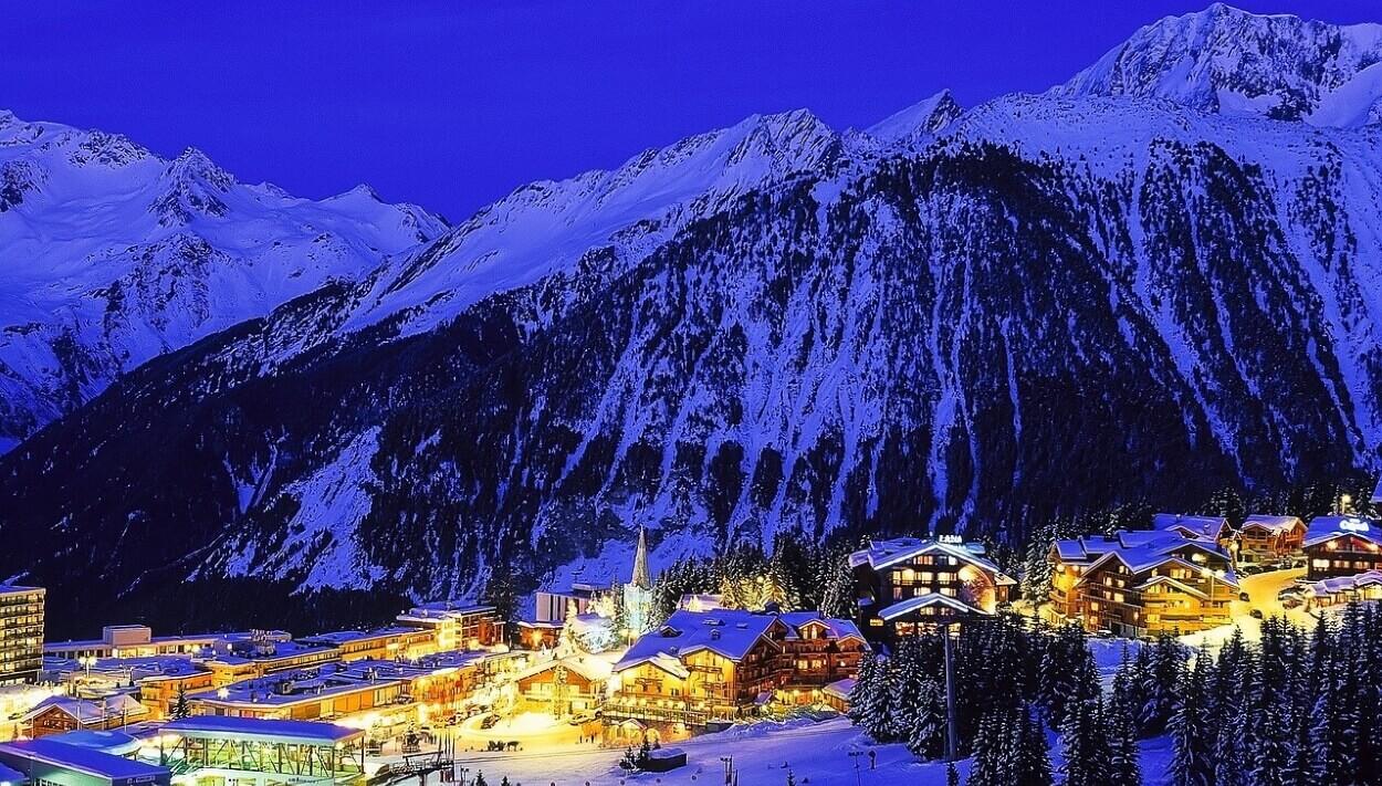 Куршевель - горнолыжный курорт во Франции