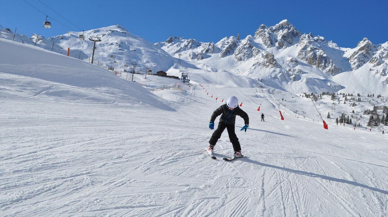 Лыжная трасса в Куршевеле