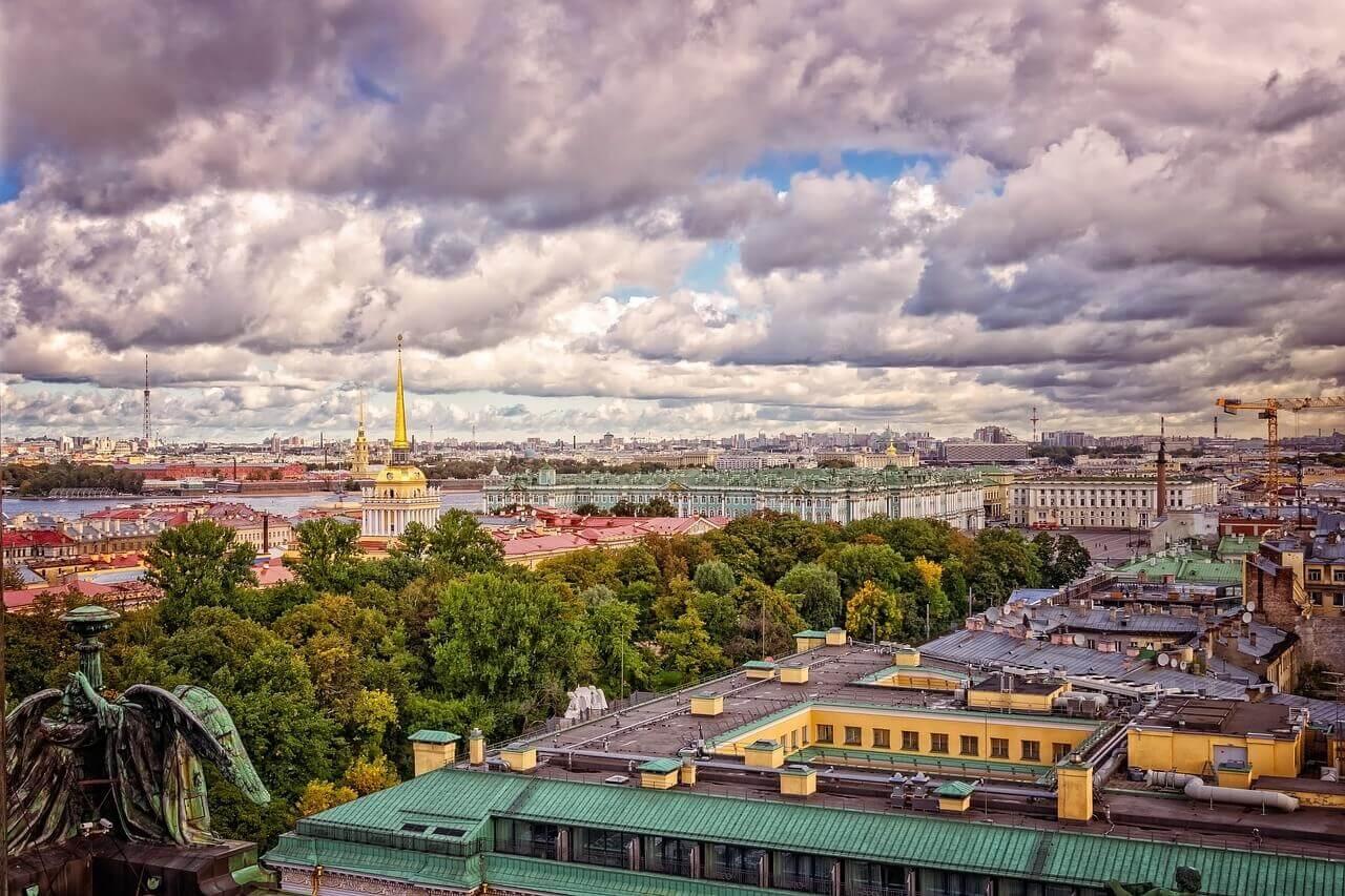 Центр Петербурга с крыши
