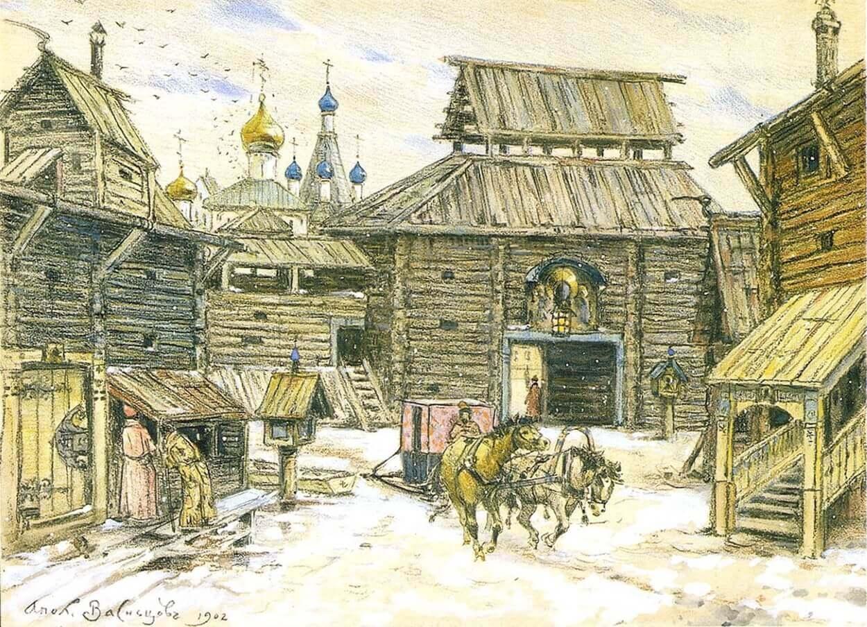 Деревянный Московский Кремль