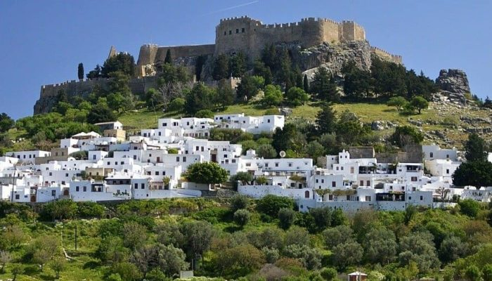 Горят леса на территории Греции. Сложная обстановка на острове Родос