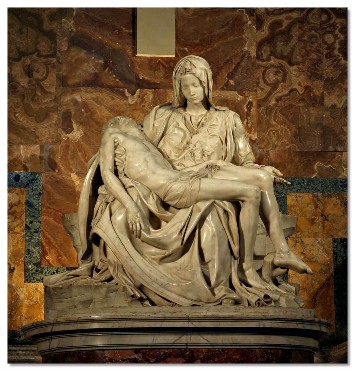 Пьета — скульптура Девы Марии из Мрамора в Ватикане