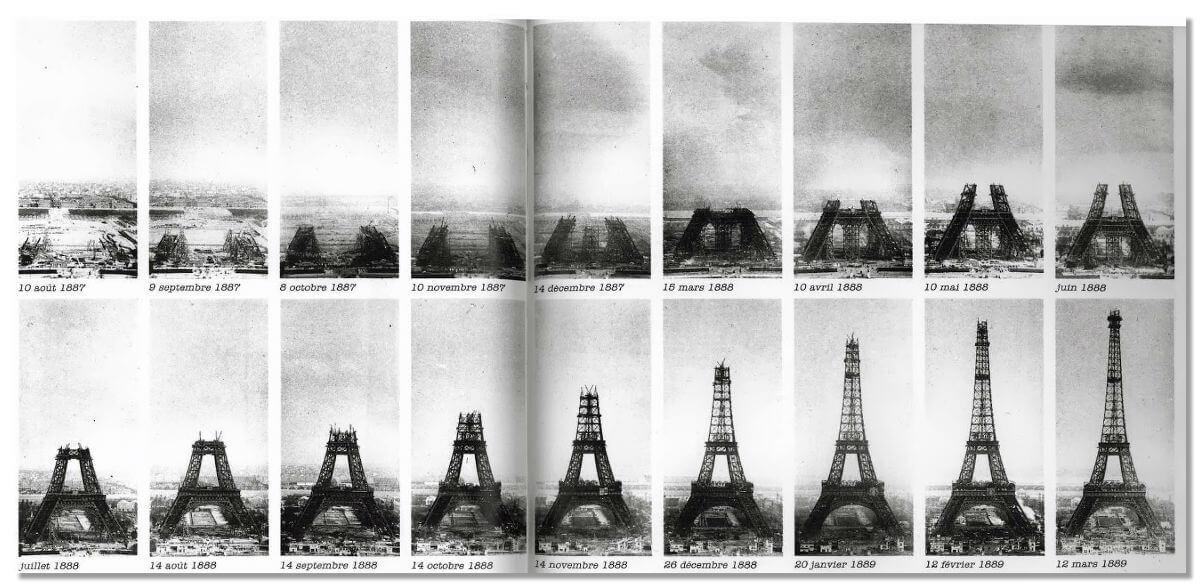 Строительство Эйфелевой Башни, 1887—1889