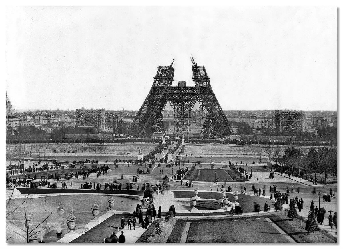 Все 18 000 деталей конструкции изготавливались на собственном заводе Гюстава в местечке Леваллуа недалеко от французской столицы.