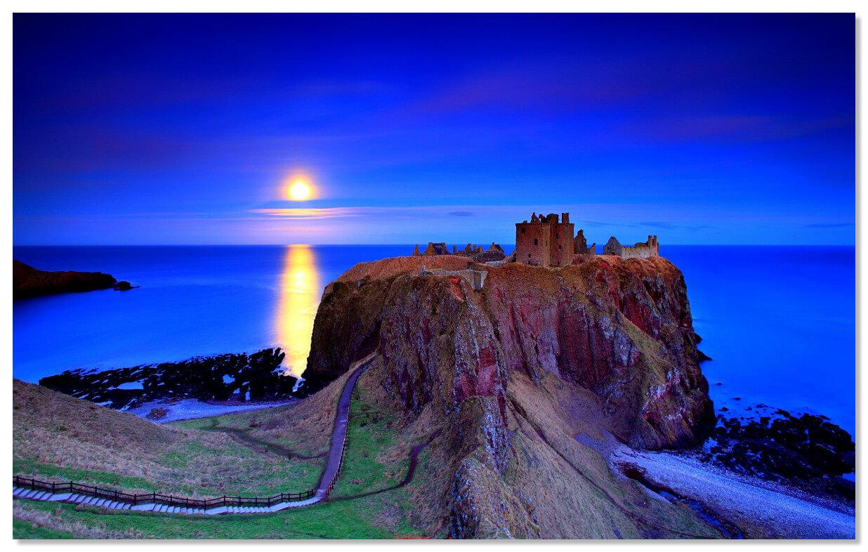 Данноттар - самая неприступная крепость Шотландии