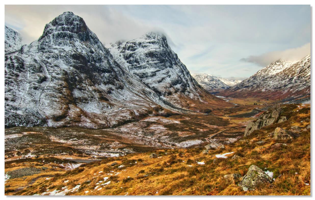 Гленко - живописная долина на юго-западе Хайленда в Шотландии