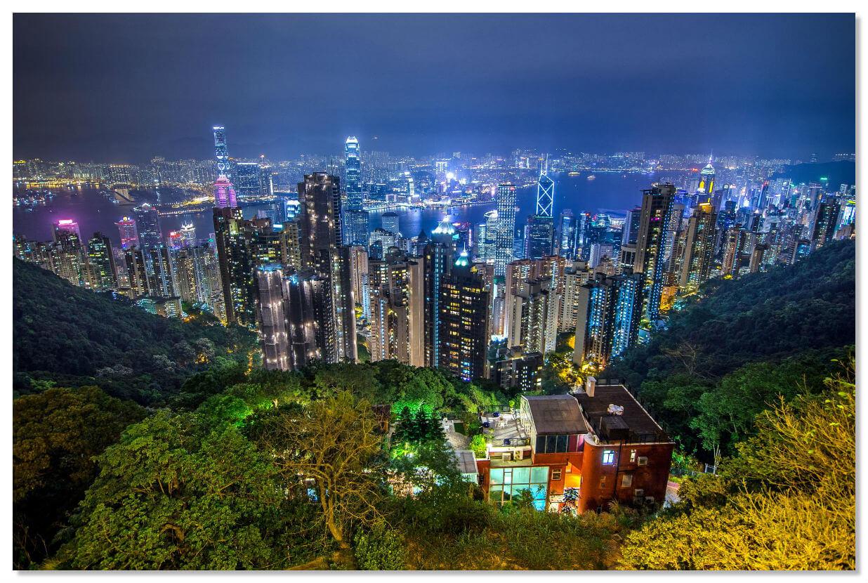 Пик Виктория - высочайшая точка острова Гонконг