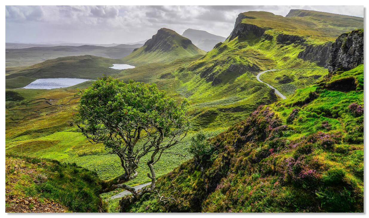Живописные пейзажи острова Скай