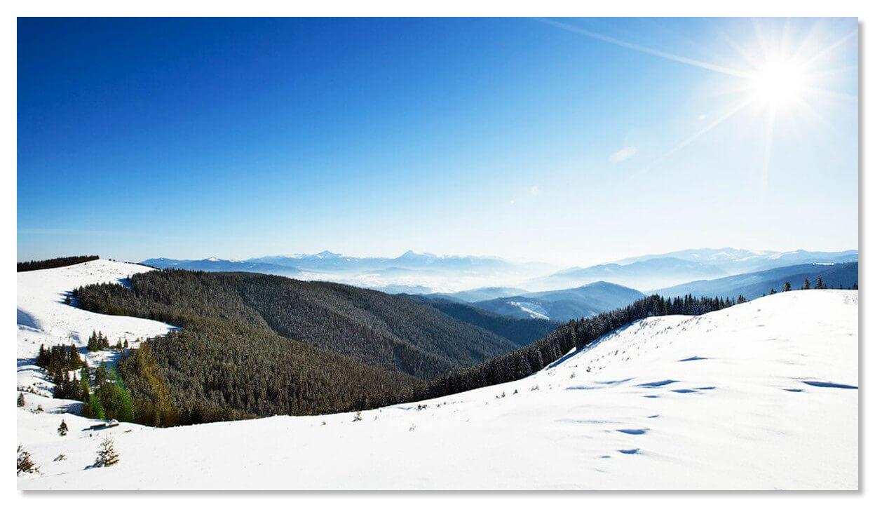 Зимой в Карпатах.