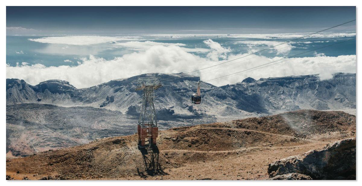 Фуникулёр на вулкан Тейде