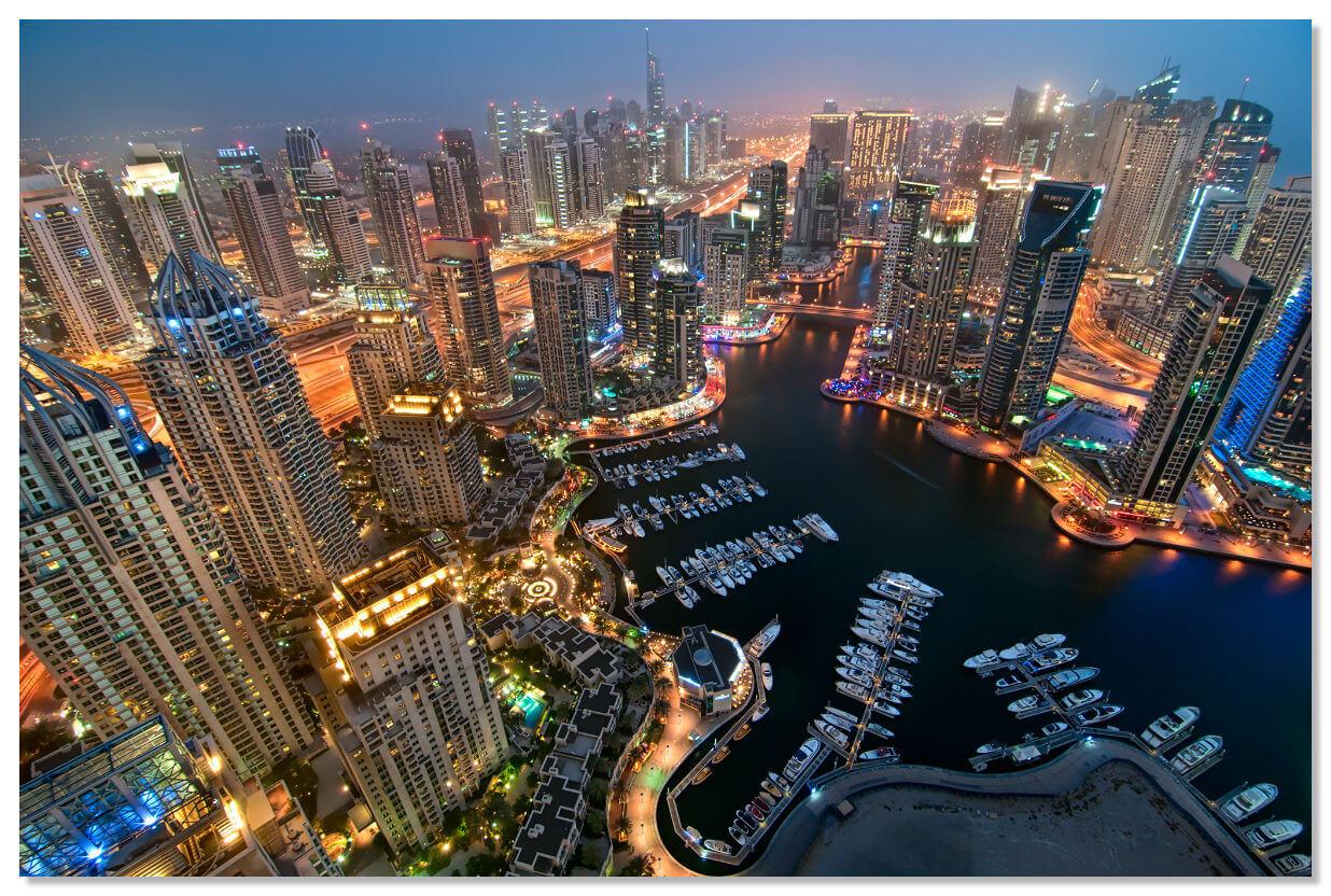 Так выглядит ночной Дубай сегодня