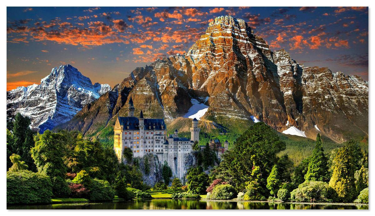 Замок Нойшванштайн находится в Баварии