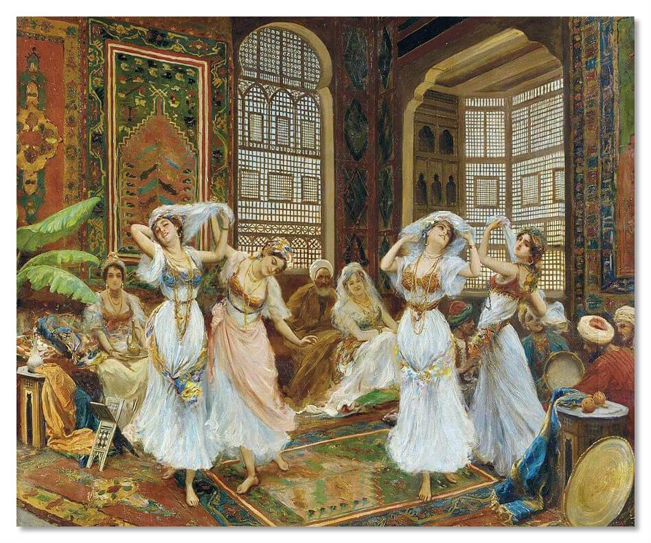 Каждый новый султан династии пополнял гарем новыми наложницами, таким образом в Стамбуле во дворце султана жило одновременно около тысячи одалисок.