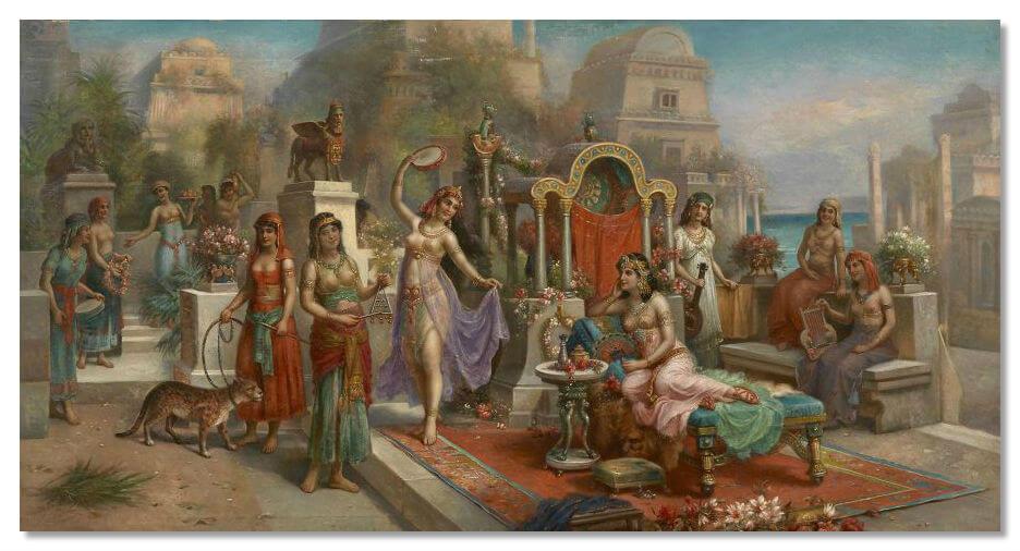Кроме самих наложниц, в женской половине дома жили и все родственницы султана, а также прислуга и евнухи.