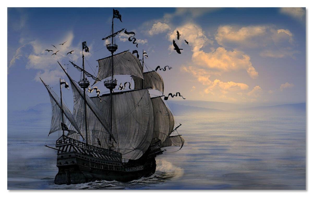 Как гласит легенда, «Калеуче» перевозит души погибших моряков.