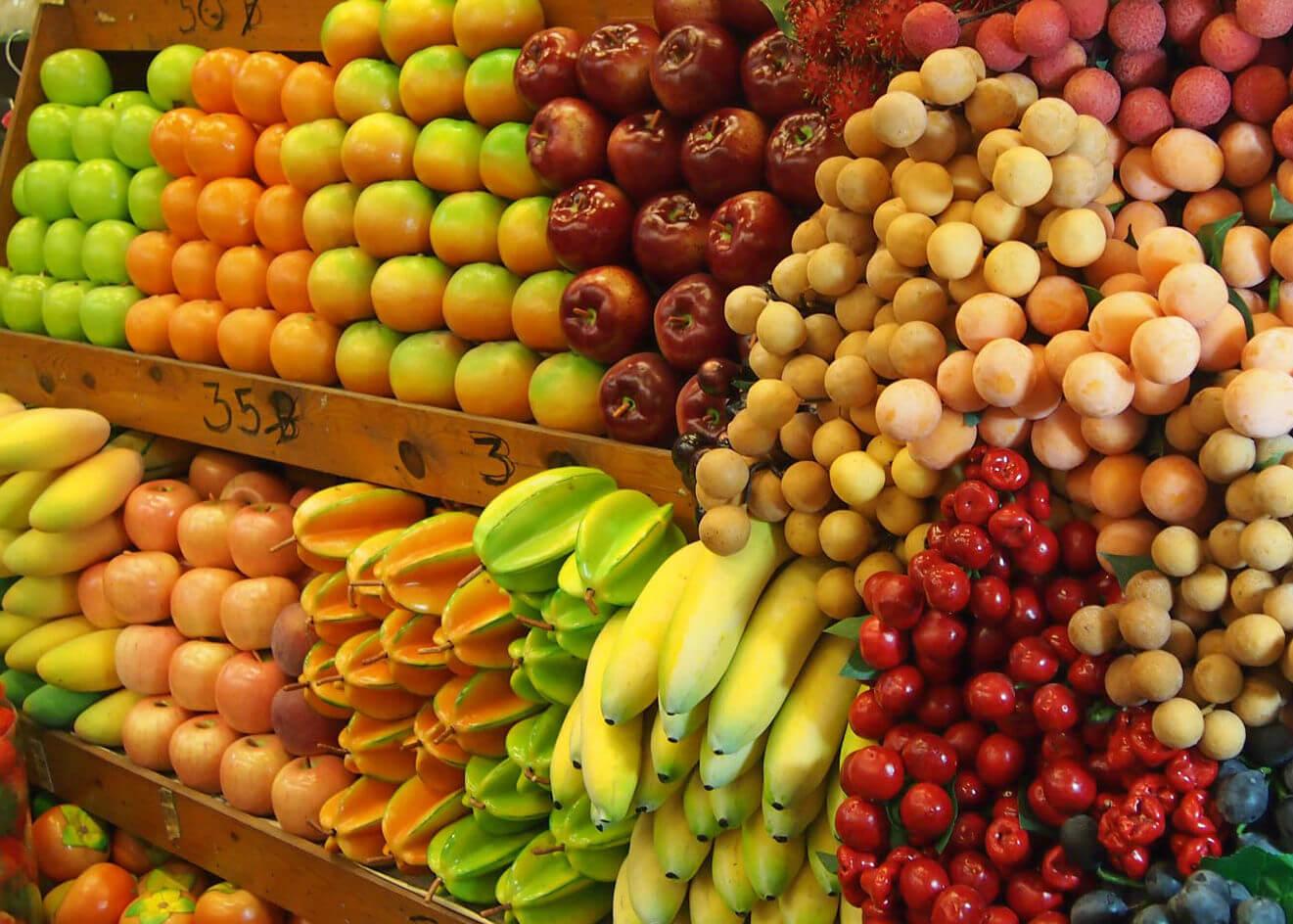 Разнообразие фруктов Таиланда