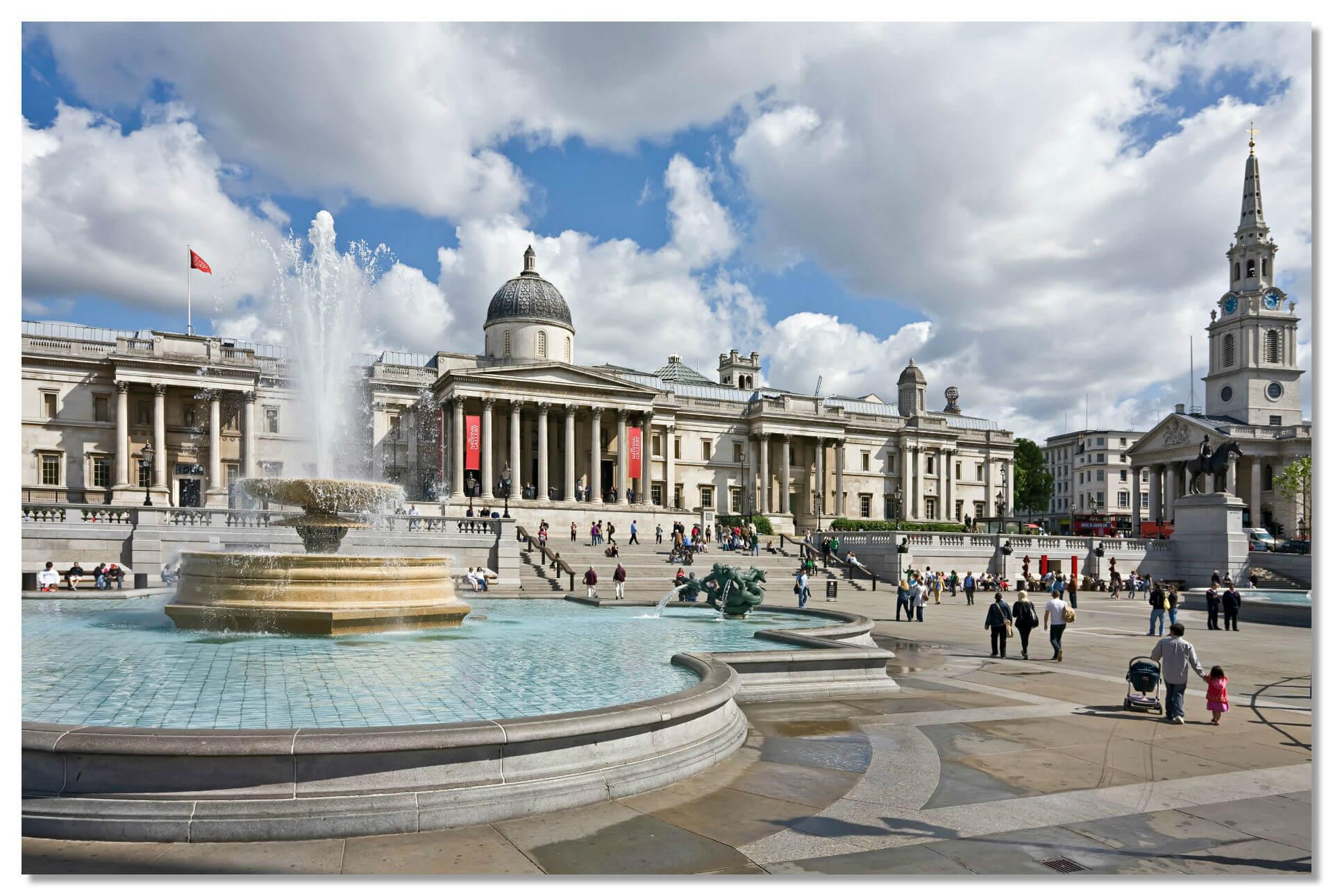 Трафальгарская площадь - самая большая площадь в Лондоне