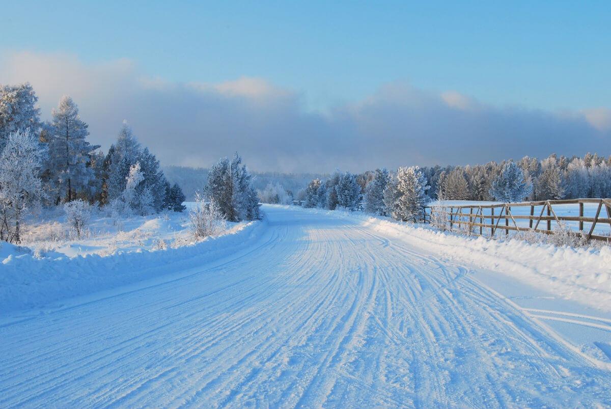 Финские дороги зимой.