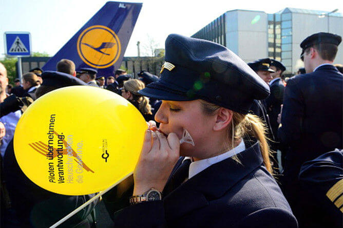 Пилоты авиакомпании «Lufthansa»