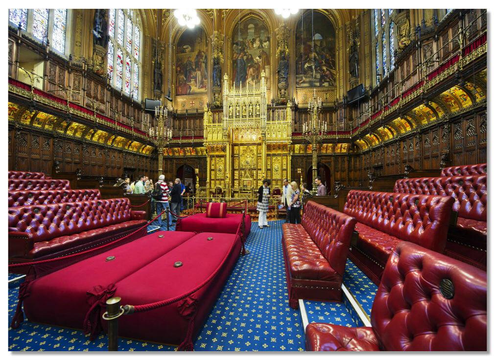 Вестминстерский дворец, зал заседания палаты лордов