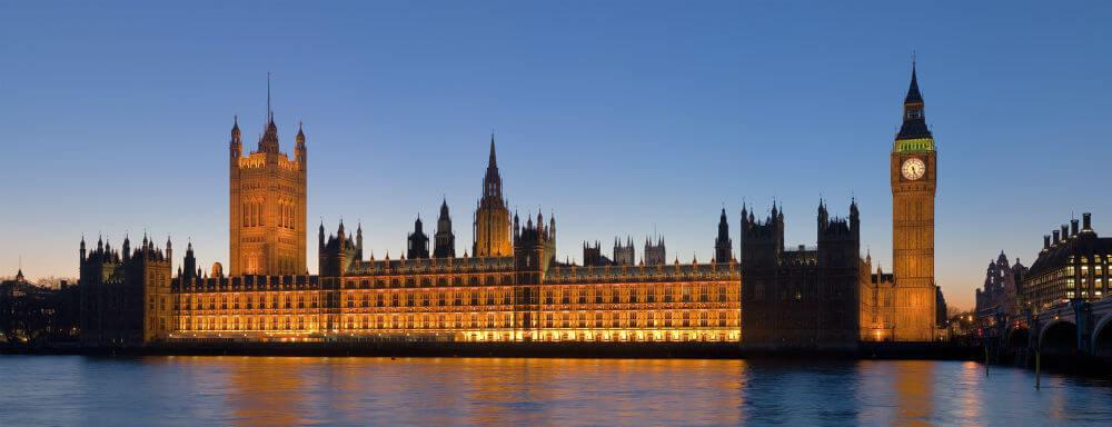 Вид на Вестминстерский дворец