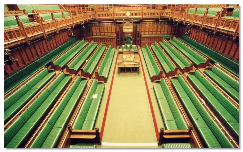 Зал заседания палаты общин