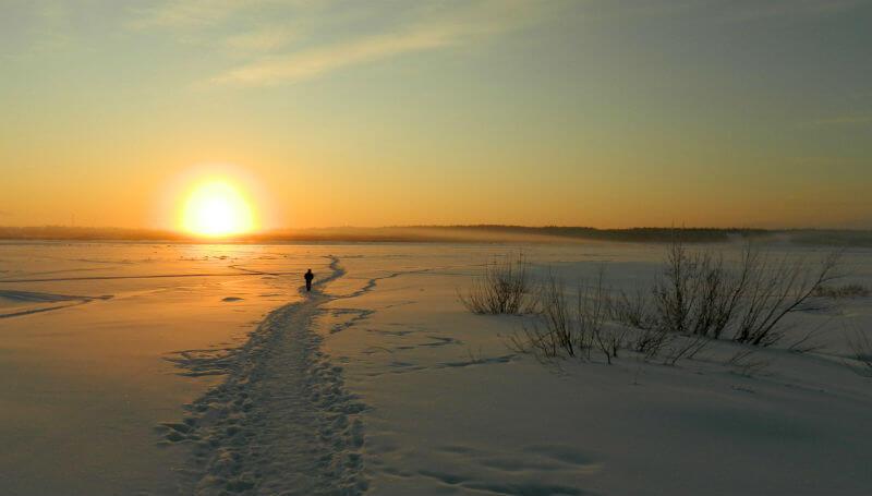 По замершей реке Печоре