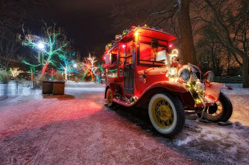 Украшенный транспорт в Новый год