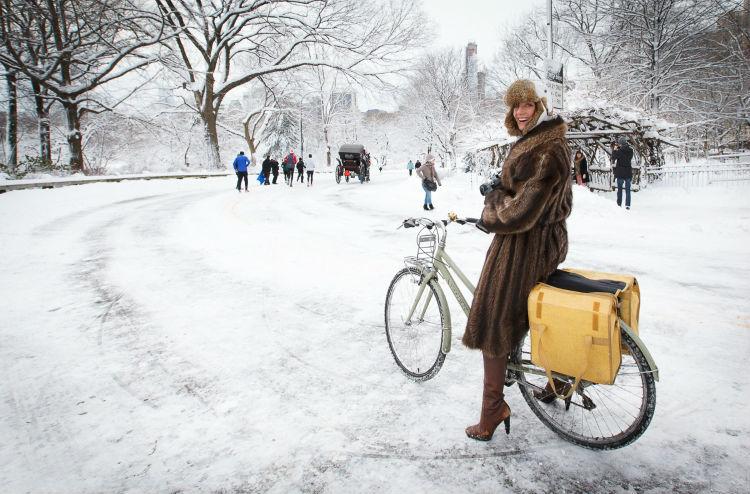 Зимний велопарад в Москве
