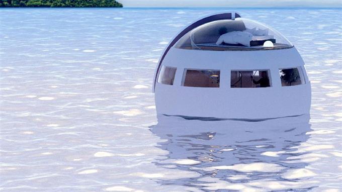 Плавающая отель-капсула в Японии