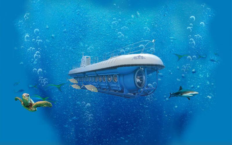 Подводная лодка для туристов в Китае