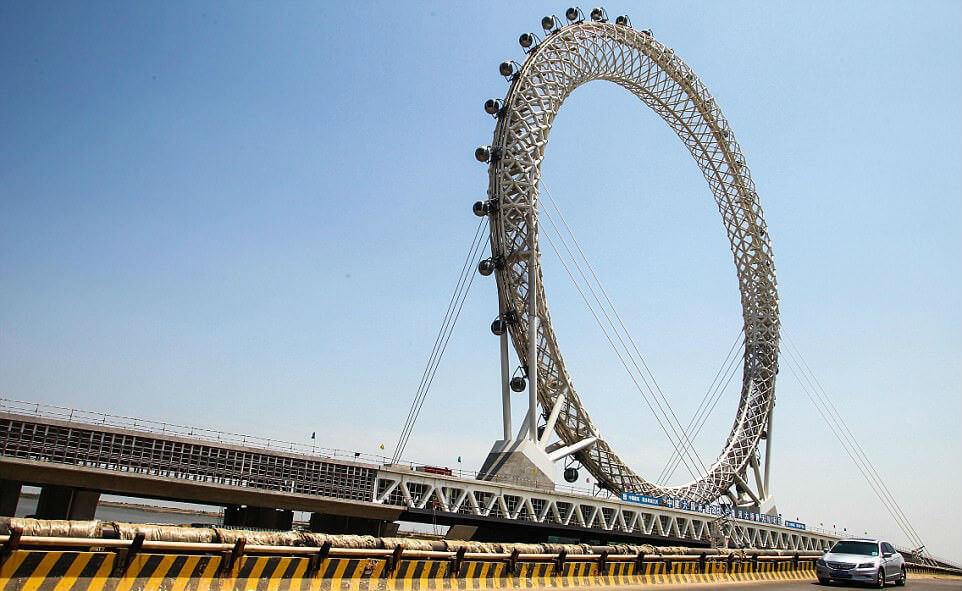 Колесо обозрения без спиц в Китае